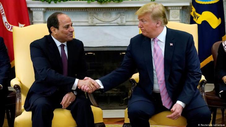 حصل الرئيس المصري عبد الفتاح السيسي على دعم متواصل من الرئيس ترامب.
