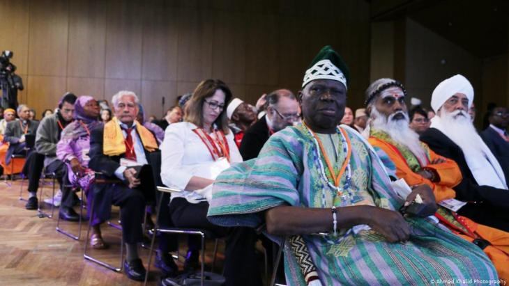 """بسبب جائحة كورونا يعقد مؤتمر """"أديان من أحل السلام"""" هذا العام بشكل أساسي عبر تقنيات الفيديو (ًصورة من الأرشيف من لقاء العام الماضي)"""