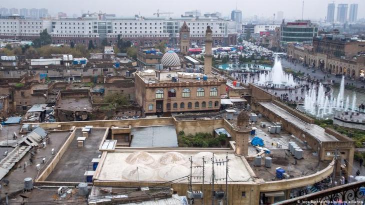 أربيل عاصمة إقليم كردستان العراق - العراقي الألماني سامان حداد: الاندماج يتم عبر الموسيقى والرقص والأكل.  (photo: picture-alliance/dpa/Jens Buttner)