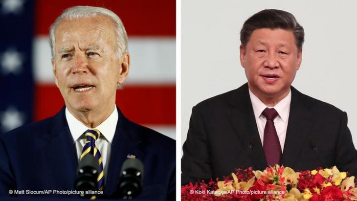 إدارة جو بايدن الأمريكية الجديدة صارمة مع الصين ولهذا تأثير على الشرقِ الأوسط. /AP Photo/picture-alliance)