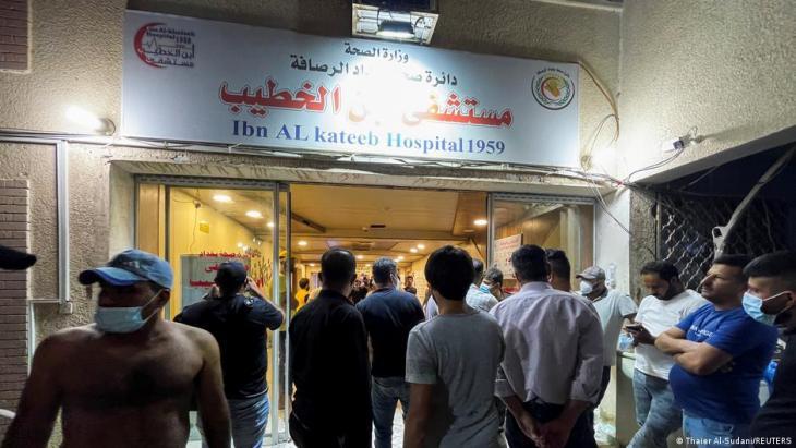 العراق يعلن الحداد ويفتح تحقيقات حول حريق مستشفى ابن الخطيب لمرضى كورونا في بغداد
