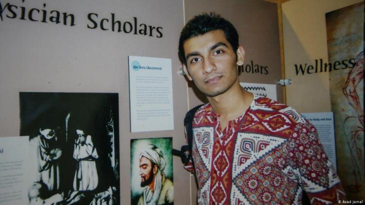 جنيد حفيظ محاضر في اللغة الإنكليزية في جامعة بهاء الدين زكريا في ملتان، باكستان.  (photo: Asad Jamal)