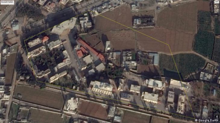 مجمَّع أمني تابع لجيش الإسلام في سوريا - Foto Google Earth (source: Google Earth)