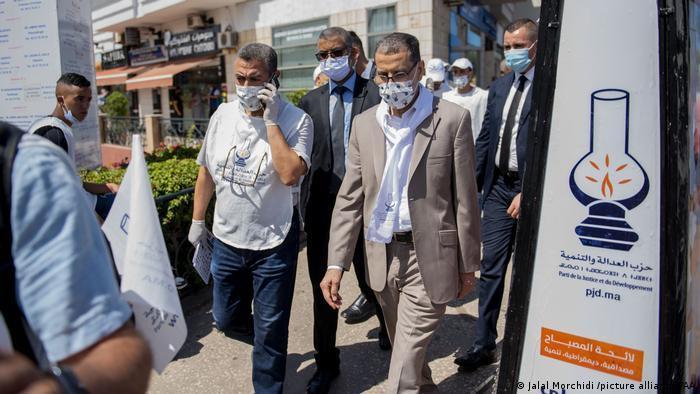 سعد الدين العثماني، الأمين العام لحزب العدالة والتنمية خلال الحملة الانتخابية