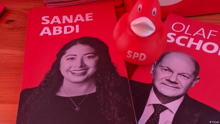 سناء عبدي المرشحة عن دائرة بورتس في مدينة كولونيا فازت بمقعد في البرلمان.