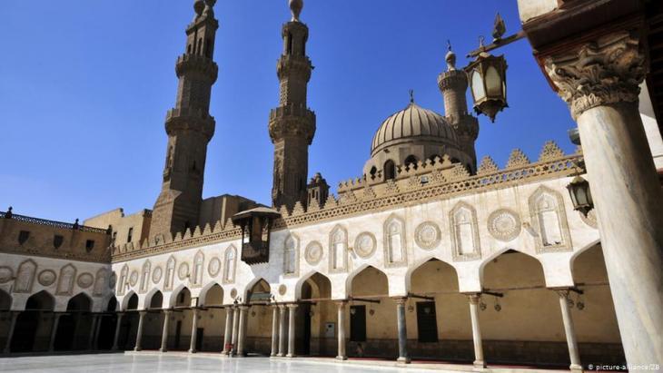 في الصورة الجامع الأزهر بالقاهرة في مصر - مرجعية لعلماء الإسلام.  (Foto: Matthias Toedt/dpa)