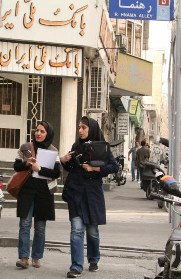 طالبات إيرانيات. photo: Massoud Schirazi