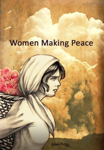 """إحدى لوحات الفنانة السورية ديالا برصلي: """" النساء يصنعن السلام"""". Foto: Diala Brisly"""