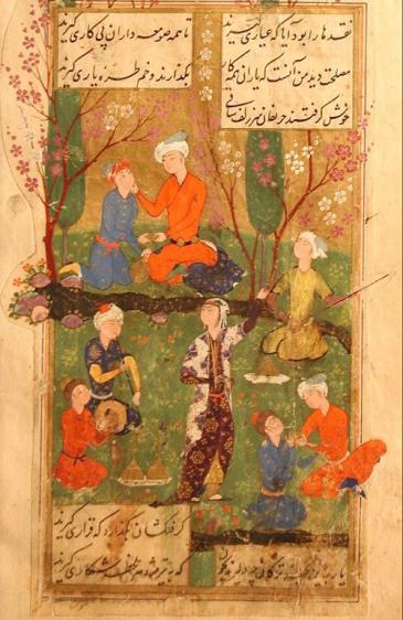 Auszug aus dem Diwan des persischen Dichters Hafis; Quelle: wikipedia