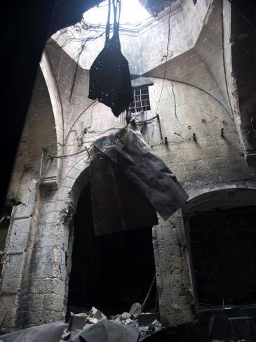 آثار الدمار في سوق المدينة في حلب، سبتمبر/ أيلول 2012. Foto: AFP/Getty Images