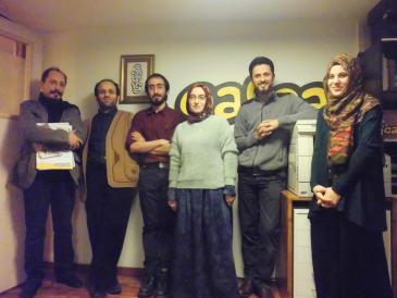"""""""فريق رسامي الكاريكاتير في مجلة """"جافجاف"""" في اسطنبول. Foto: Senada Sokollu"""