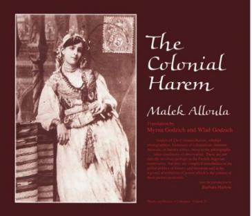 """غلاف كتاب """"الحريم الكولونيالي"""" Malek Alloula"""