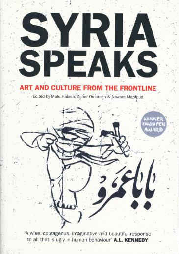 """Cover of """"Syria Speaks: Arts and Culture from the Frontline"""" (source: Saqi)"""