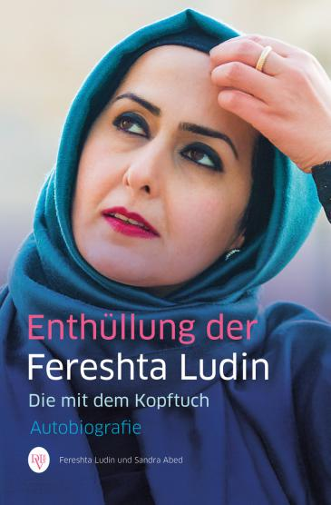 """غلاف كتاب فريشتا لودين الذي اشتمل سيرتها الذاتية وحمل عنوان """"المرأة ذات الحجاب"""". Levante-Verlag"""