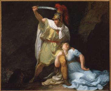 Gemälde von Luigi Sabatelli aus dem Jahr 1803: Zenobia stirbt durch die Hand Rhadamists. Foto: picture-alliance/ Luisa Ricciarini/ Leemage