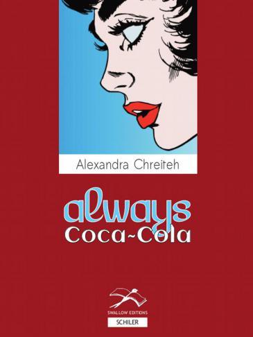 """غلاف الترجمة الألمانية لرواية """"دايما كوكا كولا"""" للكاتبة اللبنانية الكسندرا شريتح"""