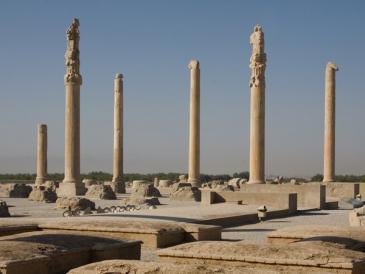 كانت برسيبوليس عاصمة الامبراطورية الفارسية القديمة في عهد الأخمينيين.Foto: picture-alliance/dpa/Boris Roessler
