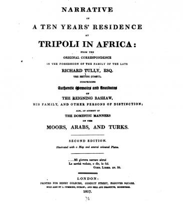 رسائل الآنسة توللي (source: digitised by Google, original from the New York Public Library)