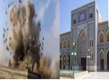 ضريح عمار بن ياسر لحظة التفجير.