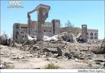 مكان ضريح عمار بن ياسر أصبح هكذا قبل التفجير. Foto: Privat
