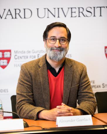 ألكسندر غورلاخ باحث أكاديمي زائر في جامعة هارفارد. Foto: David Elmes/Harvard University