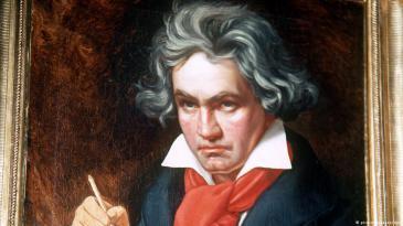 صورة لعبقري الموسيقى الكلاسيكية الألماني لودفيغ فان بيتهوفن.