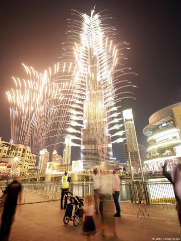 مَعلَم معماري في دبي: برج خليفة. Foto: dpa/picture-alliance