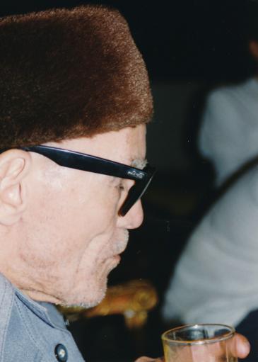 الشيخ إمام خلال لقاء شخصي عام 1994 في القاهرة - مصر. Foto: Martina Sabra