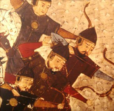 محاربين مغول من كتاب جامع التواريخ لـ رشيد الدين الهمداني wikimedia mongol soldiers_by rashid al-din