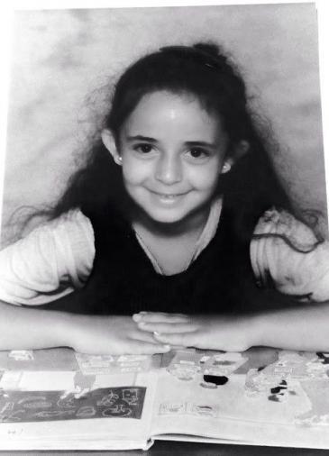 هدى حين كانت في المدرسة الابتدائية في ألمانيا.  (photo: private)