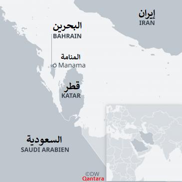 خريطة دولة قطر والدول المطلة على الخليج. Quelle: DW