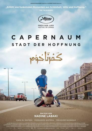 """إعلان فيلم المخرجة اللبنانية نادين لبكي """"كفرناحوم - مدينة الأمل""""."""