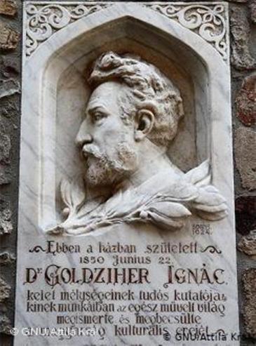 تذكار المستشرق المجري إغناتس غولدتسيهر - مؤسس فرع العلوم الإسلامية في الغرب. Foto: Wikipedia