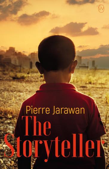 """الغلاف الإنجليزي لكتاب بيير جروان - رواية """"الرّاوِي"""". (published by World Editions)"""