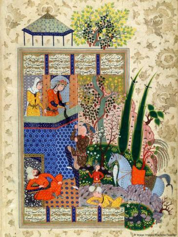 الشاعر الفارسي أبو القاسم الفردوسي ينتقد في أشعاره خضوع النخبة الفارسية للعرب.