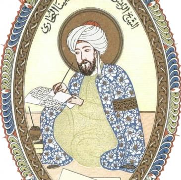 رسم تخيُّلي لشكل ابن سينا. (source: wikimedia.org; Creative Commons CC0 1.0 Universal Public Domain Dedication)