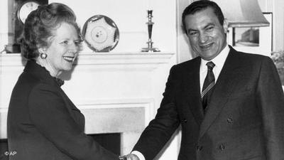 14 مارس/ آذار 1985:مبارك في زيارةرسمية لبريطانيا
