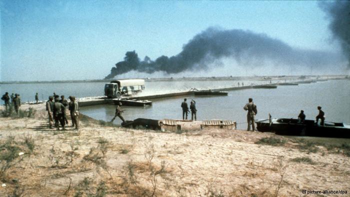 المحمّرة (خورمشهر) الإيرانية وقد تعرضت لقصف كثيف من الطائرات والصواريخ ومدفعية القوات العراقية في مطلع الثمانينات.