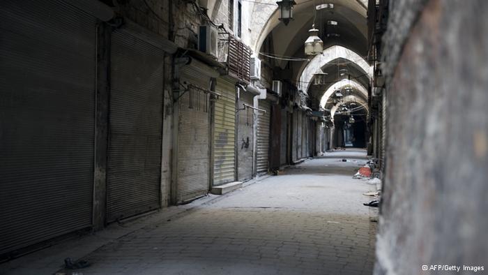 حريق دمر السوق التاريخية في حلب