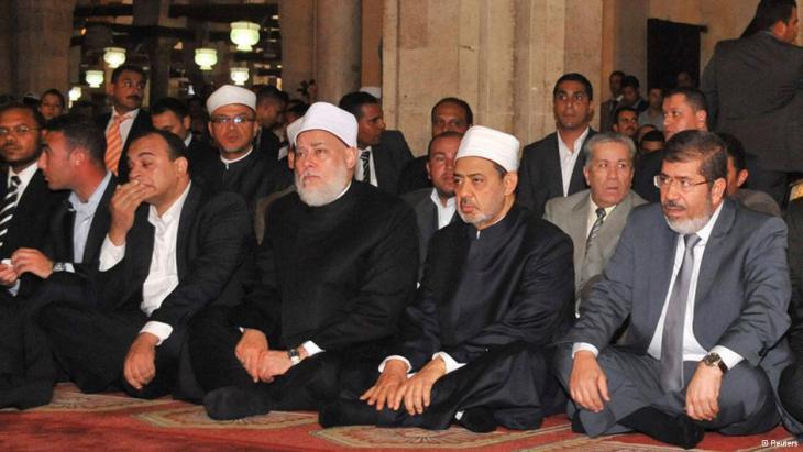 محمد مرسي مع شيخ الأزهر أحمد الطيب