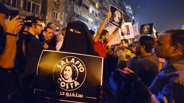 حركة سلفيو كوستا هي حركة تضم سلفيين وأقباطاً في مصر وتسعى إلى أن يكون السلفيون أكثر انفتاحاً على الآخرين. الصورة أ ف ب