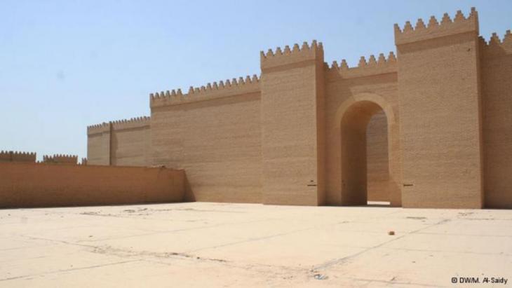 أحد جدران مدينة بابل القديمة