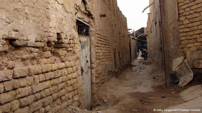 كنيس يهودي في أحد أزقة مدينة الفلوجة القديمة غرب بغداد