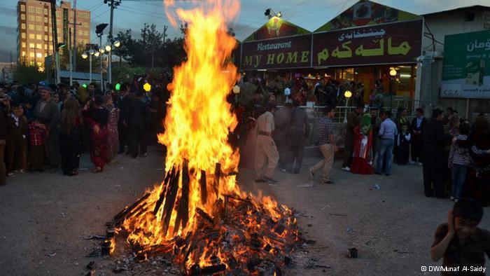 النار رمزا للنوروز
