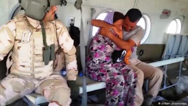 تحاول القوات المساعدة تقديم يد العون بالدرجة الأولى للفئات الأكثر تضررا، وعلى رأسهم الأطفال والنساء والجرحى