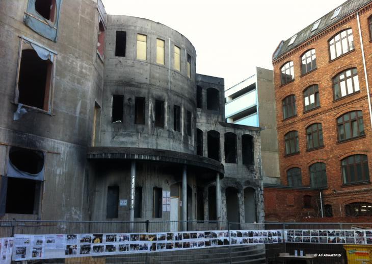 """مسجد """"مولانا"""" في قلب برلين تعرض لحرق شبه كامل بدوافع رجحت الشرطة أنها عنصرية  2014"""