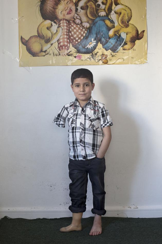 عمار، عمره ثماني سنوات ، حقوق الصورة: كاي فيدنهوفر