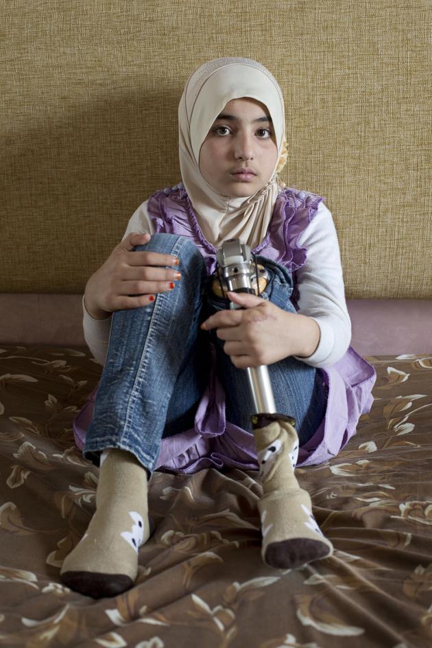 منال، عمرها 10 سنوات. حقوق الصورة: كاي فيدنهوفر