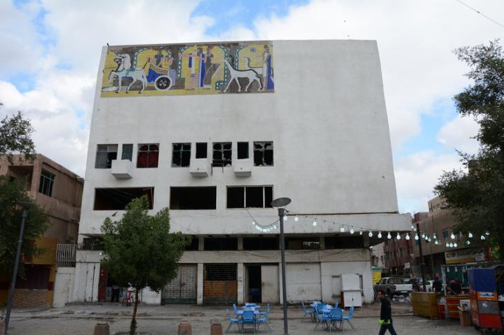بقايا دار عرض سينما بابل الشهيرة. حقوق الصورة: علي الغرباوي