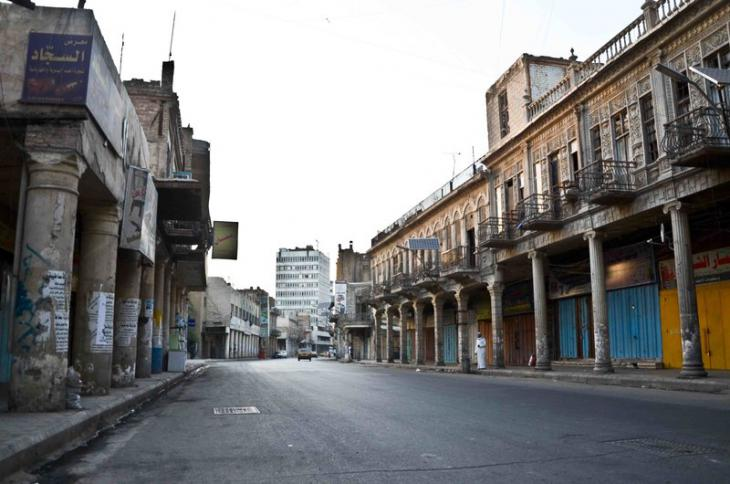 شارع الرشيد المهمل. حقوق الصورة: علي الغرباوي
